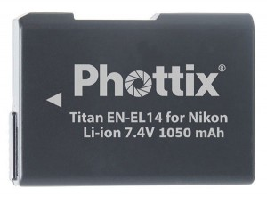 Аккумулятор Phottix Titan EN-EL14 для Nikon P7000/P7100/D3100/D3200/D3300/D5100/D5200/D5300