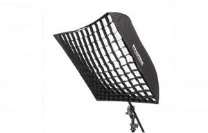 Легко-складываемый зонт-софтбокс Phottix с решеткой 90х90 см