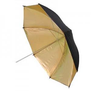 """Двухслойный зонт отражатель Phottix G&B 101см (40"""") золотисто-черный"""