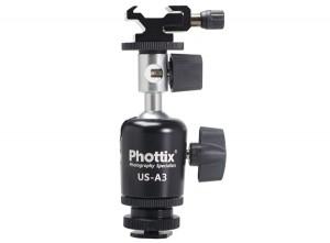 Поворотная стойка Phottix для вспышки и зонта-отражателя A3