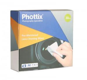 Влажные салфетки Phottix для чистки объективов (30шт.)