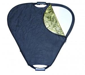 """Высококачественный треугольный отражатель Phottix с 5 отражающими поверхностями 120 cм (47"""") с рукоятками"""