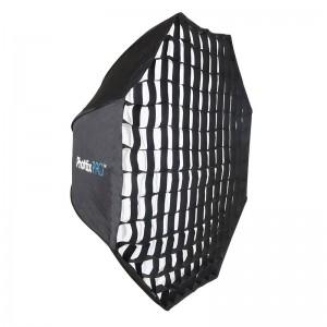 Профессиональный легко-складываемый большой восьмиугольный зонт-софтбокс Phottix HD с решеткой 120 см