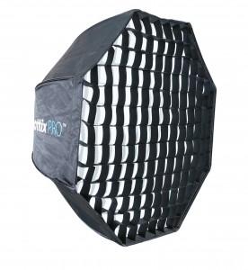 Профессиональный легко-складываемый восьмиугольный зонт-софтбокс Phottix HD с решеткой 80 см и держателем Varos XS