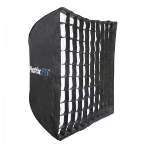 Профессиональный легко-складываемый зонт-софтбокс Phottix HD с решеткой 70х70см