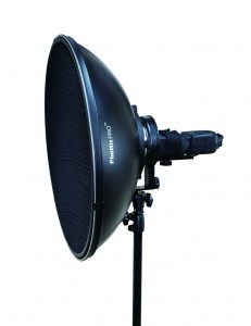 Портретная тарелка (круглый отражатель) Phottix Pro Beauty MK II с креплением типа Bowens с кольцом, ускоряющим крепление (51см, Серебряный)