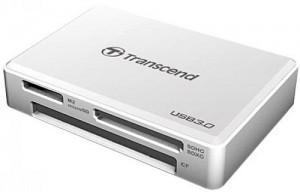 Устройство чтения/записи флеш карт Transcend RDF8, all-in-1, USB 3.0, Белый