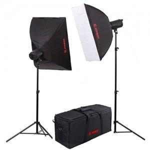 Комплект постоянного освещения Jinbei QZ-1000 Quartz Light 3200K Front diffuser softbox Kit №3