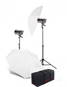 Комплект постоянного освещения Jinbei QZ-1000 Quartz Light 3200K Translucent Softlight Umbrella Kit №2