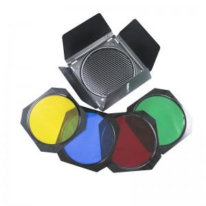 """Рассеивающая решетка Phottix 7""""со шторками и цветными фильтрами"""