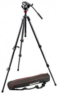 Manfrotto MVH500AH,755CX3 Штатив с видеоголовкой для видеокамеры